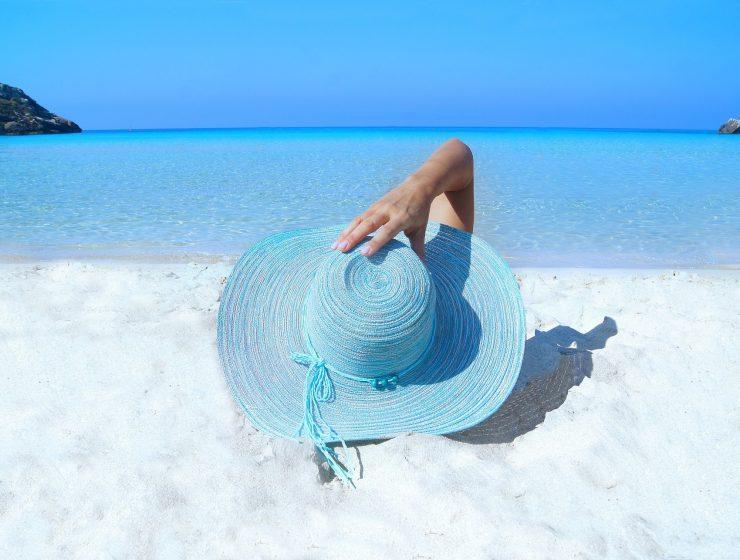 Lying on a beach